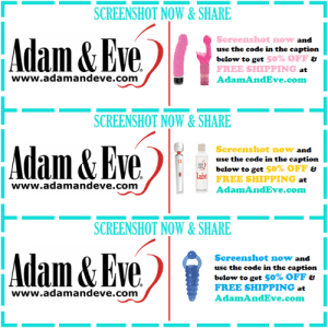 Tumblr, Free, and Eve: SCREENSHOT NOW&SHARE  www.alll&EyeliAdanad  Screenshot now  use the code in the caption  below to get  FREE SHIPPING  AdamAndEve.com  and  50% OFF ย  at  www.adamandeve.com  SCREENSHOT NOW&SHARE  Eve AdamAndmel  Screenshot now and  use the code in the caption  below to get 50% OFF &  FREE SHIPPING  AdamAndEve.com  www.adamandeve.com  SCREENSHOT NOW&SHARE  Adam&Eve  Screenshot now and  use the code in the caption  below to get 50% OFF  FREE SHIPPING at  AdamAndEve.com  www.adamandeve.com  1   Get 50% OFF almost any adult item  FREE US/CAN Shipping by using offer code POSITIVE at www.AdamAndEve.com. 18+ Only.