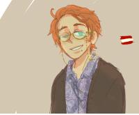 Target, Tumblr, and Blog: scribblemynizzle:  just wondering what modern day 2pAustria would look like with shorter hair and also what if 2pgermania influence made it kind of curly/wavy what if