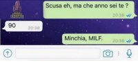 Milf, Italian (Language), and Anno: Scusa eh, ma che anno sei te?  20:38  EAOSRD  90 20:38  Minchia, MILF. 20:38 Categoria granny.