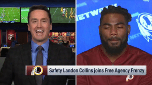 He idolized Sean Taylor.  Now @TheHumble_21 gets to play for the same team. 🙏 https://t.co/POwx5YGbn4: sd  Safety Landon Collins joins Free Agency Frenzy He idolized Sean Taylor.  Now @TheHumble_21 gets to play for the same team. 🙏 https://t.co/POwx5YGbn4