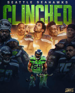 The @Seahawks have clinched a spot in the #NFLPlayoffs! #Seahawks https://t.co/vqUyls5mu9: SE ATTLE SEAHA W K S  CLINCHED  KEANAWKS  SEAHA  SEAHAWS  SEA  SEAHAWKS The @Seahawks have clinched a spot in the #NFLPlayoffs! #Seahawks https://t.co/vqUyls5mu9