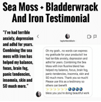 Sea Moss+ Bladderwrack and Iron Lestimonial l'Ve Had