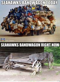 Memes, Nfl, and Seahawks: SEAHAWKS BANDWAGON TODAY  ONFL MEMES  SEAHAWKS BANDWAGON RIGHT NOW