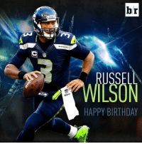Russell Wilson is off to a great start on his 27th birthday: 12-18 for 146 yards and 2 TDs in the first half: SEAHAWKS  br  RUSSELL  HAPPY BIRTHDAY Russell Wilson is off to a great start on his 27th birthday: 12-18 for 146 yards and 2 TDs in the first half
