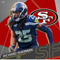 According to reports, RichardSherman has joined the SanFranciso49ers on a 3 year contract! Thoughts? 👇🏈🤔 @NFL WSHH: SEAHAWKS  RICHARD SHERMAN  CB According to reports, RichardSherman has joined the SanFranciso49ers on a 3 year contract! Thoughts? 👇🏈🤔 @NFL WSHH