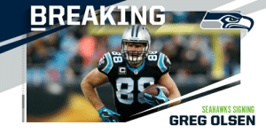 .@Seahawks signing TE @gregolsen88 to one-year, $7 million deal. (via @MikeGarafolo) https://t.co/iXd8haHngl: .@Seahawks signing TE @gregolsen88 to one-year, $7 million deal. (via @MikeGarafolo) https://t.co/iXd8haHngl