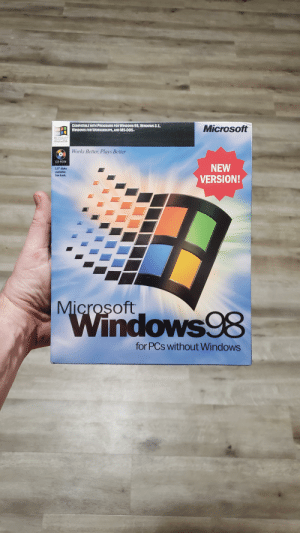 SEALED copy of Windows 98 that my wife found at her job at a school district. (Thanks to Enderlord700 for starting this subject): SEALED copy of Windows 98 that my wife found at her job at a school district. (Thanks to Enderlord700 for starting this subject)