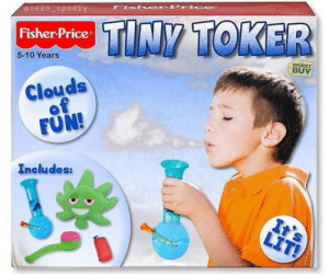 Why use toddler tamers when you can have a tiny toker? by CtrlAltDelicous FOLLOW 4 MORE MEMES.: @sean speezy  TINY TOKER  Fisher-Price  WORST  BUY  5-10 Years  Clouds  of  FUN!  Includes:  It's  LIT! Why use toddler tamers when you can have a tiny toker? by CtrlAltDelicous FOLLOW 4 MORE MEMES.