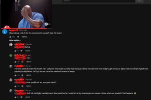 This alpha male would put Shaq in his place: Search  2 days ago  Shaq talking a lot of shit for someone who couldn't clear the board  614REPLY  Hide replies A  day ago  shut up  1.5  REPLY  ago  u no u  REPLY  day ago  43  The man needs to watch his mouth. He's lucky this Sean dude is a beta male because I know it would have been really tough for me, an alpha male, to restrain myself from  popping the Big Diesel.. he'd get served a knuckle sandwich instead of wings  1.16 REPLY  1 day ago  what specifically are you upset about?  1.19  REPLY  en  1 day ago  Nah foh, don't play mediator now. Shaq went too far. I want him to try clowning me on camera. I know where we headed if that happens.  1.8  REPLY This alpha male would put Shaq in his place