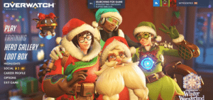 Bitch, Tumblr, and Blizzard: SEARCHING FOR GAME  ESTIMATED TIME: UNKNOWN  DVERWATCH  IMTRIGGERED 98  ELAPSED TIME: 0:49  1.18.1.2-42210  PLAY  RAINING  HERO GALLERY  LOOT BOX  HIGHLIGHTS  SOCIAL  CAREER PROFILE  OPTIONS  EXIT GAME  nd lil-bitch-mccree: BLIZZARD WHY THE FUCK IS HE STILL OUT THERE? ALL YOU DID WAS BLUR HIM OUT, MATE