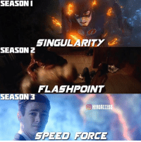 Memes, Single, and 🤖: SEASON I  SINGULARITY  SEASON 2  FLASHPOINT  SEASON 3  HERDACCESS  EED FDRCE Honestly loved every single finale.🤔 Which season finale was your favorite? ~ Lopro⚡️