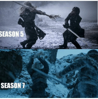 Memes, Time, and White: SEASON  SEASON 7 Jon vs White Walker. Let's hope for the same end that there was the last time!💪 . jonsnow jontargaryen whitewalkers kitharington gameofthronesfamily gameofthroneshbo got gameofthrones