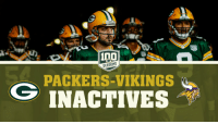 RT @packers: QB Aaron Rodgers is officially ACTIVE.  See the #MINvsGB inactives list 📝: https://t.co/68epaJqXtw https://t.co/nT7SoNfGBF: SEASONS  PACKERS-VIKINGS  INACTIVES RT @packers: QB Aaron Rodgers is officially ACTIVE.  See the #MINvsGB inactives list 📝: https://t.co/68epaJqXtw https://t.co/nT7SoNfGBF