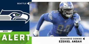Memes, News, and Seahawks: SEATTLE  NEWS  ALERT  SEAHAWKS SIGNING  EZEKIEL ANSAH The @Seahawks are signing pass-rusher @Ziggy_Ansah to a 1-year deal. (via @RapSheet) https://t.co/XPHiWMnMkc