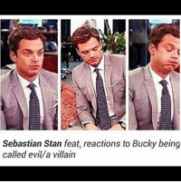 Memes, Stan, and Villain: Sebastian Stan feat, reactions to Bucky being  called evilla villain Seb disagrees. sebastianstan buckybarnes