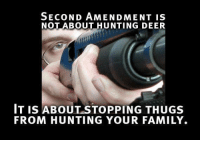 """*If you like this post Share and """"Like"""" our Facebook page to get more just like it:) For high-quality Firearms, Self Defense and Survival content - Subscribe to our Free online MCS Magazine here: http://mcs-mag.com/fb/mcs-mag-subscribe: SECOND AMENDMENT IS  NOT ABOUT HUNTING DEER  IT IS ABOUT STOPPING THUGS  FROM HUNTING YOUR FAMILY. *If you like this post Share and """"Like"""" our Facebook page to get more just like it:) For high-quality Firearms, Self Defense and Survival content - Subscribe to our Free online MCS Magazine here: http://mcs-mag.com/fb/mcs-mag-subscribe"""