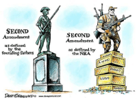 Memes, Define, and 🤖: SECOND  SECOND  Amendment  Amendment  as defined  by the  as defined by  founding fathers  the NRA  A MMO  AMMO  AMMO  LUND www.davegranlund.com Dave Granlund, davegranlund.com