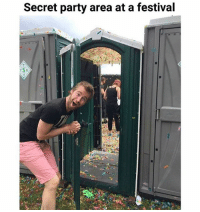 Memes, Party, and Shit: Secret party area at a festival @shmeatriu5 we must find the secret porta-potty-party 😩😩😩😂😂😂😂😂😂😂😂 imagine finding this while completely tripping balls, shit would fuck me up 😂