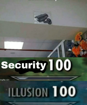 Anaconda, Com, and Security: Security 100  imgflip.com  ILLUSION 100