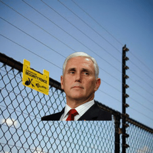 Mike 'The electric fence' Pence: SECURITY FENCE Mike 'The electric fence' Pence