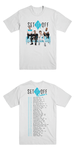 setitoffband:Another #tbt. It's been a whole year since we started our summer on the road! You can pick up this tee at setitoffband.com/store.: SEDOFE  ALL SUMMER 16  06.22 ANCHORAGE.AK  6.24 DALLAS, TI  6.25 SAN ANTONIO. TX  06.26 HOUSTON. TX  06.27 NEW ORLEANS. LA  6.29 NASHVILLE,TN  07.01 ST. PETERSBURG.FL  7.03 WEST PALM BEACH.FL  7.05 CHARLOTTE.NC  07 07 SYRACUSE.NY  708 CAMDEN,NJ  709 WANTAGH.NY  07.10 HARTFORD. CT  07 11 SCRANTON. PA  0713MANSFIELD.N A  714 DARIEN CENTER. NY  7.15 BURGETTSTOWN.PA  07.16 COLUMBIA. M D  7 17 HOLMDEL.N  7.19 NOBLESVILLE IN  07.20 CUYAHOGA F LLS, 0H  07 21 CINCINNATI. O H  07 22 AUBURN HILLS.M  7 23 TINLEY PARK.IL  07 24 SHAKOPEE.MN  7 26 MILWAUKEEW  7 27 MARYLAND HEIGHTS.MO  7 28 BONNER SPRINS. KS  7 30 SALT LAKE CITY. UT  7 31 DENVER. CO  8 01 ALBUQUERQUE,NM  08.02 PHOENIX.AZ  08.06 MO UNTAIN VIEW. C  08.07 PO MONACA  08 09 LAS VEGAS.NV setitoffband:Another #tbt. It's been a whole year since we started our summer on the road! You can pick up this tee at setitoffband.com/store.