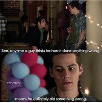 TeenWolf this show always makes me so nostalgic: See, anytime a guy thinks he hasn't done anything wrong,  BESTSCENESIG  means he definitely did something wrong TeenWolf this show always makes me so nostalgic