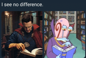SpongeBob, Did, and First: | see no difference Spongebob did it first.