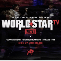 """See our upcoming show """"Worldstar TV"""" live before it airs! 🎬🎥 Click the link in bio for more details and to sign up. Airing Friday Feb. 3rd 11PM est-10c on @MTV2 😄 WSHH: SEE OUR NEW SHOW  WORLCSTAR  LIVE  TAPING IN NORTH HOLLYWOOD JANUARY 15TH AND 16TH  SIGN UP LINK IN BIO See our upcoming show """"Worldstar TV"""" live before it airs! 🎬🎥 Click the link in bio for more details and to sign up. Airing Friday Feb. 3rd 11PM est-10c on @MTV2 😄 WSHH"""