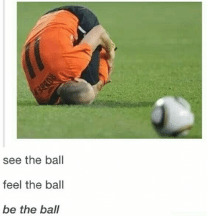 Ball, Laughing, and Stop: see the ball  feel the ball  be the ball Cant stop laughing
