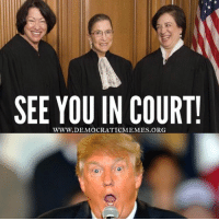 "Boom! Trump better pick his battles before he gets smacked down by the ""Nasty Women"" of the Supreme Court!  www.democraticmemes.org: SEE YOU IN COURT!  WWW. DEMOCRATICMEMES Boom! Trump better pick his battles before he gets smacked down by the ""Nasty Women"" of the Supreme Court!  www.democraticmemes.org"