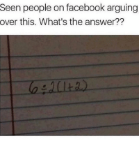 Facebook, Memes, and Wshh: Seen people on facebook arguing  over this. What's the answer?? What's the answer? 👀🤔 WSHH