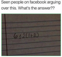 Facebook, Answer, and What: Seen people on facebook arguing  over this. What's the answer?? What's the answer? 🤔 https://t.co/dSbA5XM9sm