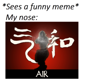 My name is UNG by spicyren MORE MEMES: *Sees a funny meme *  My nose:  AIR My name is UNG by spicyren MORE MEMES