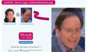 jizzfrosti: Why is he so scared: seinfeld tjerry1.jpg, costanzabonanza.jpg  Morph  a new inage  Morph this image  Please like this image on Facebook!:)  Lksend 60,621 peopee this, Be the frst o  เมณ์..MorphThing.com jizzfrosti: Why is he so scared