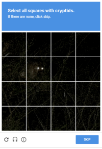 Select All: Select all squares with cryptids.  If there are none, click skip.  SKIP