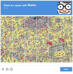 Fuck you: Select the square with Waldo  fuck you  VERIFY Fuck you