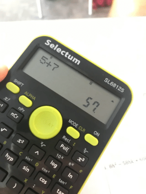 Apparently, this calculator runs JavaScript (not OC): Selectum  SL68125  5+7  57  SHIFT  ON  ALPHA  MODE CLR  ROTAY  x!  nPr  Rec( :  8h - 58hk 6U  nCr  Pol(  10X  ex  log  In  Ç sin D cos1 E tan F  hyp  sin  CoS  tan Apparently, this calculator runs JavaScript (not OC)