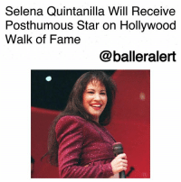 "Family, Instagram, and Ironic: Selena Quintanilla Will Receive  Posthumous Star on Hollywood  Walk of Fame  @balleralert Selena Quintanilla Will Receive Posthumous Star on Hollywood Walk of Fame-blogged by @thereal__bee ⠀⠀⠀⠀⠀⠀⠀⠀⠀ ⠀⠀ ENews reports that Mexican-American icon SelenaQuintanilla will be receiving a posthumous star on the Hollywood Walk of Fame on Nov. 3. ⠀⠀⠀⠀⠀⠀⠀⠀⠀ ⠀⠀ Suzette Quintanilla, the late singer's sister, announced the news via social media. That same day, Selena will also receive another exciting honor. ⠀⠀⠀⠀⠀⠀⠀⠀⠀ ⠀⠀ ""Los Angeles Mayor Eric Garcetti, actress, producer and Texas native EvaLongoria will be there to proclaim November 3rd as the official 'Selena Day' in the city of Los Angeles,"" wrote Suzette. ⠀⠀⠀⠀⠀⠀⠀⠀⠀ ⠀⠀ Suzette and the rest of the Quintanilla family will be present for the 6:30 PM ceremony. ⠀⠀⠀⠀⠀⠀⠀⠀⠀ ⠀⠀ Last year, Longoria took to Instagram to announce that she too would be receiving a star the same year as her idol. ⠀⠀⠀⠀⠀⠀⠀⠀⠀ ⠀⠀ In a heartfelt post Longoria wrote, ""I could never have dreamed that one day I would receive a star on the Hollywood Walk of Fame. But even more ironic is that the same year I receive my star, so does my idol, my inspiration, my fellow Tejana, my fellow Corpus Christi native, Selena Quintanilla. She was the reason I even dared to dream that a better life was possible. And that that life didn't have to distance you from where you came from,"" she said. ⠀⠀⠀⠀⠀⠀⠀⠀⠀ ⠀⠀ ""So many people become famous and leave a place without ever crediting it with the role it played in shaping their lives. Selena was proud of being from Corpus Christi, Texas. And that made me proud to be from Corpus."" ⠀⠀⠀⠀⠀⠀⠀⠀⠀ ⠀⠀ She continued, ""She blazed the way for all of us and I will be forever grateful to her for not only that but for the pure joy I felt when I got to see her perform. Her smile, her charisma, her beauty put every single person who watched her under a spell. Thank you, Selena. I know I will receive my star on the Walk of Fame because you dared to dream it first."""