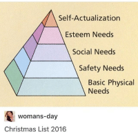 Memes, Leggings, and Cold: Self-Actualization  Esteem Needs  Social Needs  Safety Needs  Basic Physical  Needs  womans day  Christmas List 2016 I'm so cold I'm wearing sweatpants over my leggings