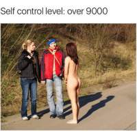 """Must not look at boobies"": Self control level: over 9000 ""Must not look at boobies"""