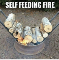 Fire, Memes, and Redneck: SELF FEEDING FIRE Redneck Ingenuity!!! Double tap if you'd use!!!