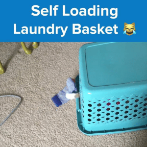 Less mess, no fuss.  MOL: Self Loading  Laundry Basket Less mess, no fuss.  MOL