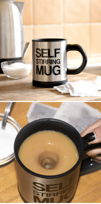 novelty-gift-ideas:  Self Stirring Coffee Mug: SELF  STIRRING  MUG novelty-gift-ideas:  Self Stirring Coffee Mug