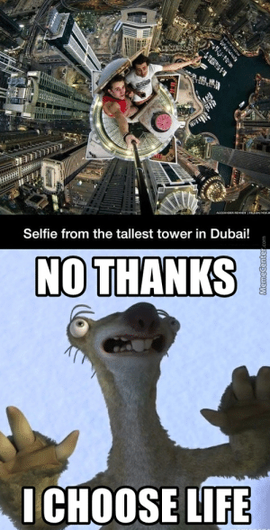 Selfie From the Tallest Tower in Dubai! NOTHANIKS ICHOOSE LIFE Dizzy