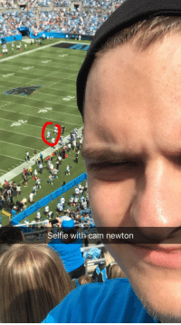 Got a picture with cam newton today: Selfie with cam newton Got a picture with cam newton today
