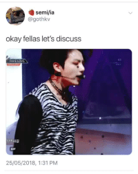 Fake, Gif, and Love: semi/ia  @gothkv  okay fellas let's discuss  03  FAKE LOVE  GIF  25/05/2018, 1:31 PM IT WAS THIS VIDEO OFFICER cr: gothkv