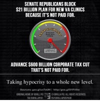 But maybe nobody will notice, right?  Via Gorilla Pig: SENATE REPUBLICANS BLOCK  $21 BILLION PLAN FOR NEW VA CLINICS  BECAUSE IT'S NOT PAID FOR.  OCR  HYPOCRISY  DETECTON  SYSTEM  HARNING  ADVANCE $600 BILLION CORPORATE TAX CUT  THAT'S NOT PAID FOR.  Taking hypocrisy to a whole new level  Sources: goo.gl/us7aUN  I http://goo.gl/D1FV5w  ORIGINAL MEME BY GORILL PIG RE OGORILLA PIG. ALL RIGHTS RESERVED.  FB/GORILLAPIGSPAGE  TW/GORILLAPIG1  VEL But maybe nobody will notice, right?  Via Gorilla Pig