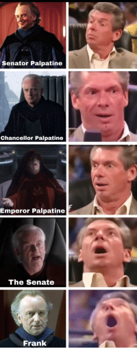 """Emperor Palpatine, Tumblr, and Blog: Senator Palpatine  Chancellor Palpatine  Emperor Palpatine  The Senate  Frank <p><a href=""""http://scifiseries.tumblr.com/post/165021661519/my-resolve-has-never-been-strongah"""" class=""""tumblr_blog"""">scifiseries</a>:</p>  <blockquote><p>My resolve has NEVER BEEN STRONGAH</p></blockquote>"""