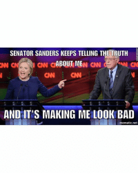Was anyone else hoping Bernie would reach over and knock her upside the head during the debate? She kept lying and changing the subject every time Bernie cornered her. She is an amazing politician, perfect at deceiving the American people. Never will I vote for such a horrible person. You have to EARN my vote. Anyone who says they will vote for her if Bernie doesn't get the nom are sheep... They are what's wrong with this country. This is a revolution! We don't just settle for someone who represents everything we fought against... BernieOrBUST! 🔫 ––––––––––––––––––––––––––– 👍🏻 Turn On Post Notifications! 📝 Register To Vote 📢 Raise Awareness For Our Revolution 💰 Donate to Bernie ––––––––––––––––––––––––––– FeelTheBern DemDebate BernieSanders Bernie2016 Hillary2016 GopDebate Obama HillaryClinton President BernieSanders2016 election2016 polthepenguin trump2016 Vegan gameofthrones nationalpancakeday michiganprimary rideforolivia internationalwomensday BlackLivesMatter PoliticalRevolution megatron springbreak newmoon lunchbreak maryland toyota springhassprung dwts thedivision –––––––––––––––––––––––––––: SENATOR SANDERS KEEPS TELLING THE TRUTH  ABOUT ME  CNN CNN  AND IT'S MAKING ME LOOK BAD  mematic net Was anyone else hoping Bernie would reach over and knock her upside the head during the debate? She kept lying and changing the subject every time Bernie cornered her. She is an amazing politician, perfect at deceiving the American people. Never will I vote for such a horrible person. You have to EARN my vote. Anyone who says they will vote for her if Bernie doesn't get the nom are sheep... They are what's wrong with this country. This is a revolution! We don't just settle for someone who represents everything we fought against... BernieOrBUST! 🔫 ––––––––––––––––––––––––––– 👍🏻 Turn On Post Notifications! 📝 Register To Vote 📢 Raise Awareness For Our Revolution 💰 Donate to Bernie ––––––––––––––––––––––––––– FeelTheBern DemDebate BernieSanders Bernie2016 Hillary2016 GopDebat