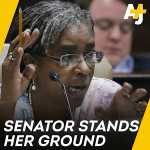 Watch State Sen. Stephanie Flowers refuse to be silenced and make a passionate plea against enacting a 'stand your ground' law in Arkansas.: SENATOR STANDS  HER GROUND Watch State Sen. Stephanie Flowers refuse to be silenced and make a passionate plea against enacting a 'stand your ground' law in Arkansas.